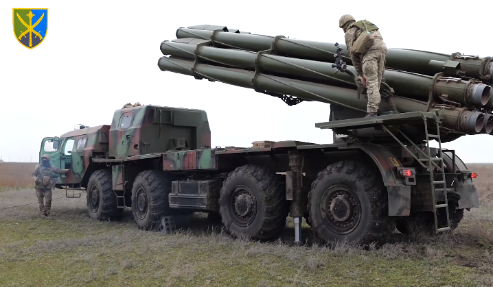 Military drills in Kherson region / Snap from video