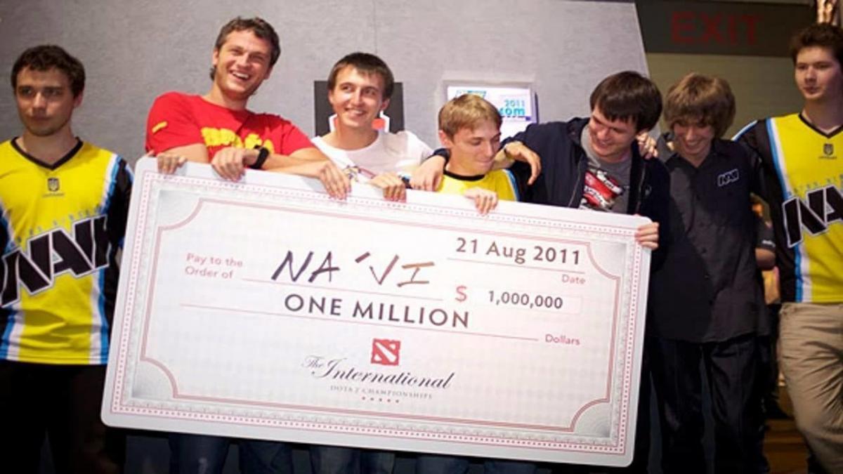 Победа NAVI на первом турниреThe International / фото weplay.tv