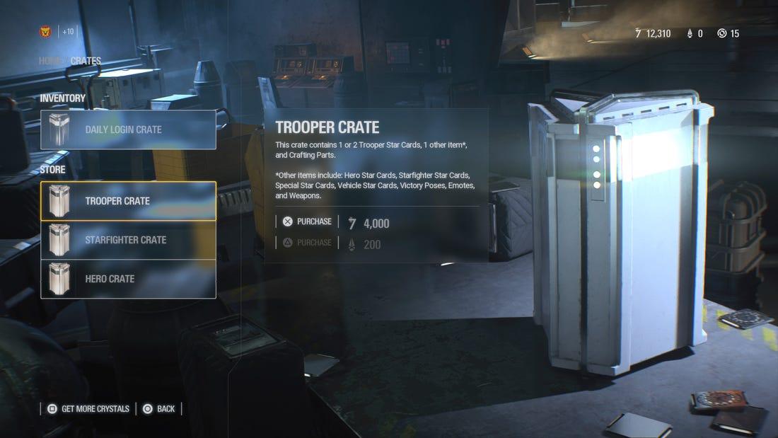 Лутбокс в Star Wars Battlefront II / скриншот