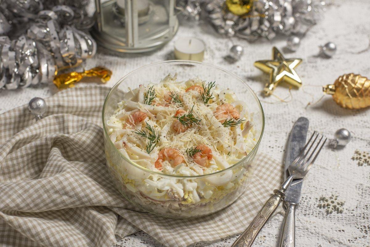 Рецепт салата с кальмарами / фото botanichka.ru