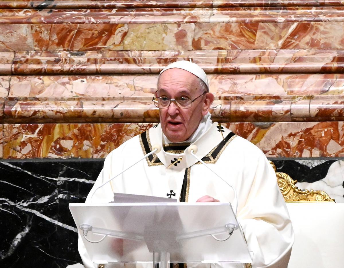 Франциск отметил, что в Библии Ной пережил потоп благодаря тому, что был добродетельным/ фото REUTERS