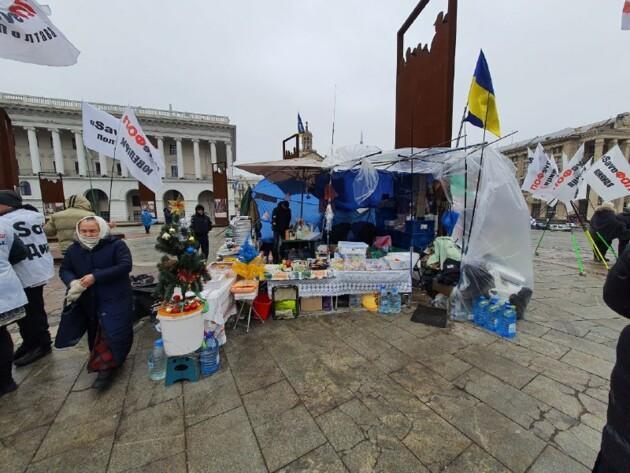 На Майдане раздают еду / фото Сегодня