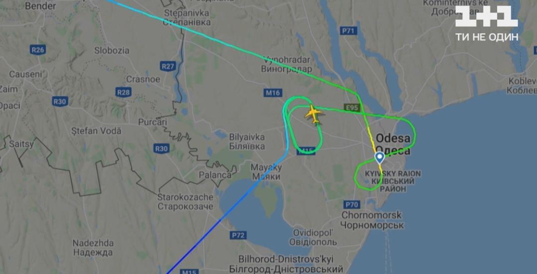 Рейс Борисполь-Одесса даже не вылетал из столицы / Скриншот