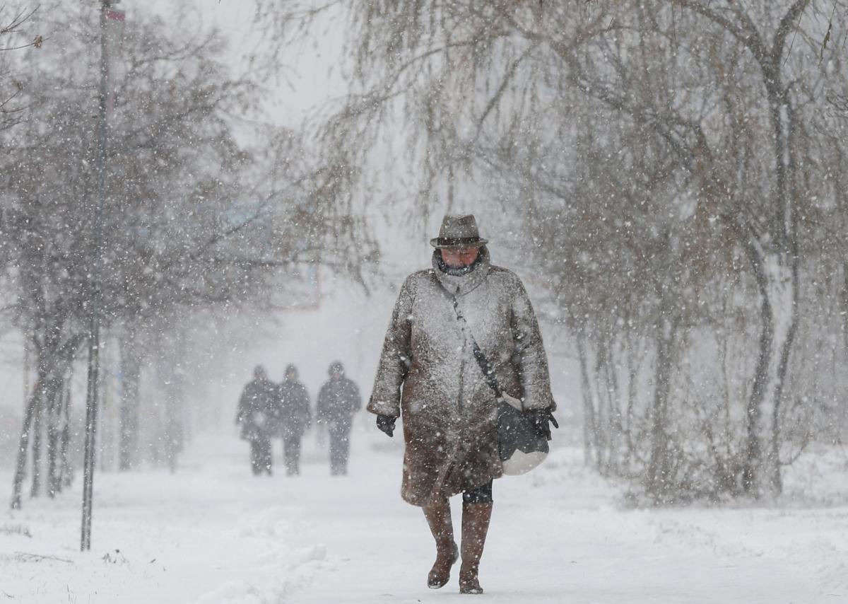 Сегодня в Киеве ожидается снегопад / Фото: REUTERS