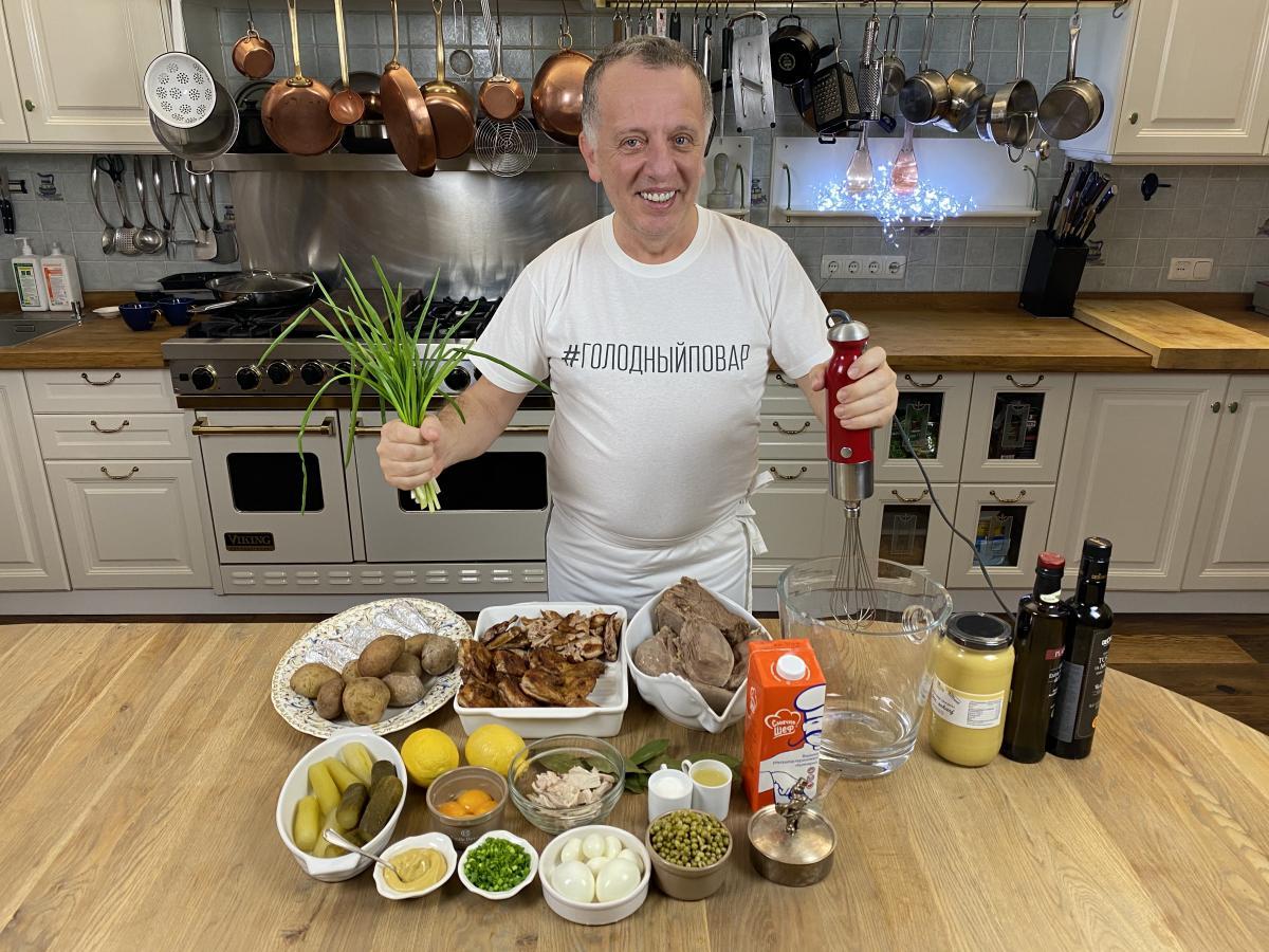 Рецепт салата оливье с говядиной / УНИАН