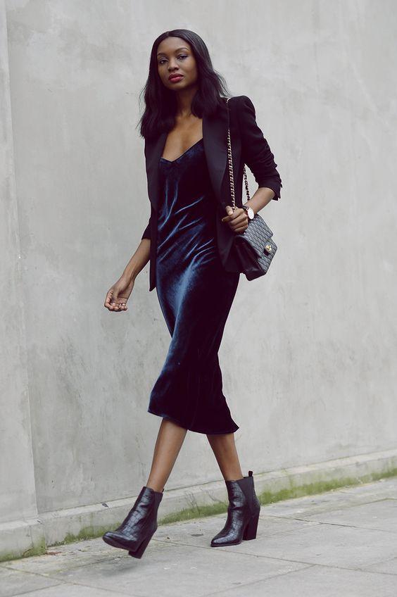 Бархатное платье / pinterest.com