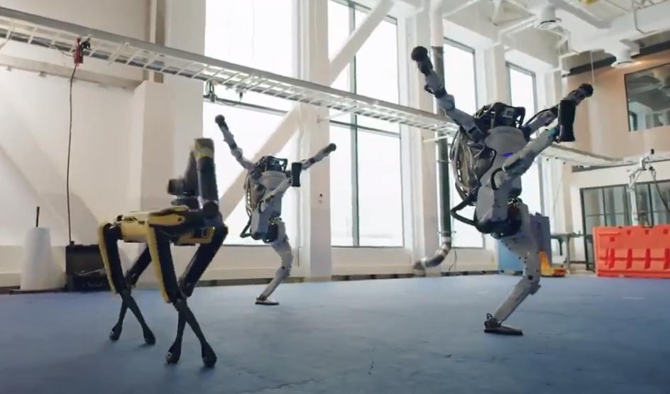 Танцюючі роботи Boston Dynamics / скріншот