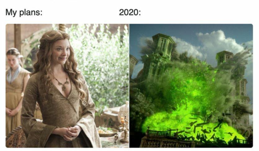 Мем про 2020 год / фото из соцсетей