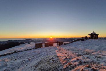 В первый день зимы температура в Карпатах упала до -12°