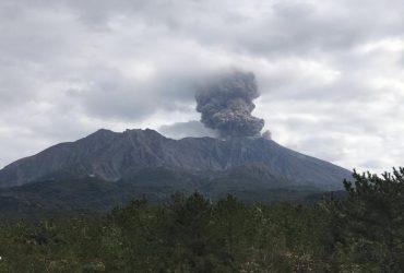 На японском вулкане Сакурадзима произошел сильный взрыв (фото, видео)