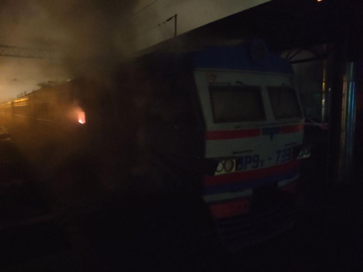 В Одесі загорілася електричка / фото od.dsns.gov.ua