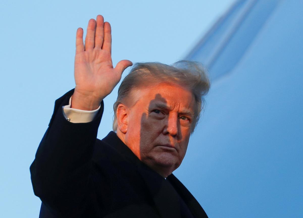 Дональд Трамп звернувся до американців/ фото REUTERS