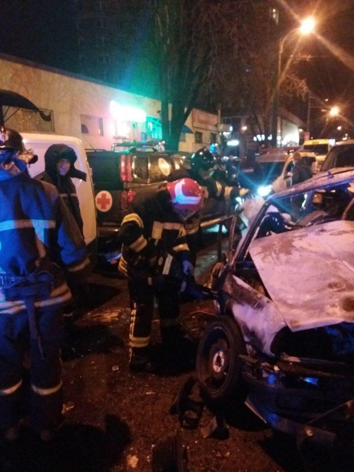 В результате аварии пострадали пять человек / фото ГСЧС