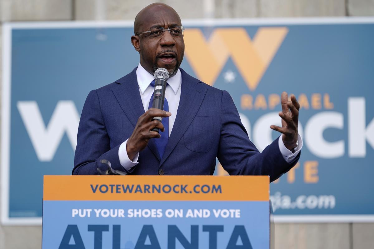 Представитель демократов в штате Джорджия Рафаэль Ворнок / фото REUTERS