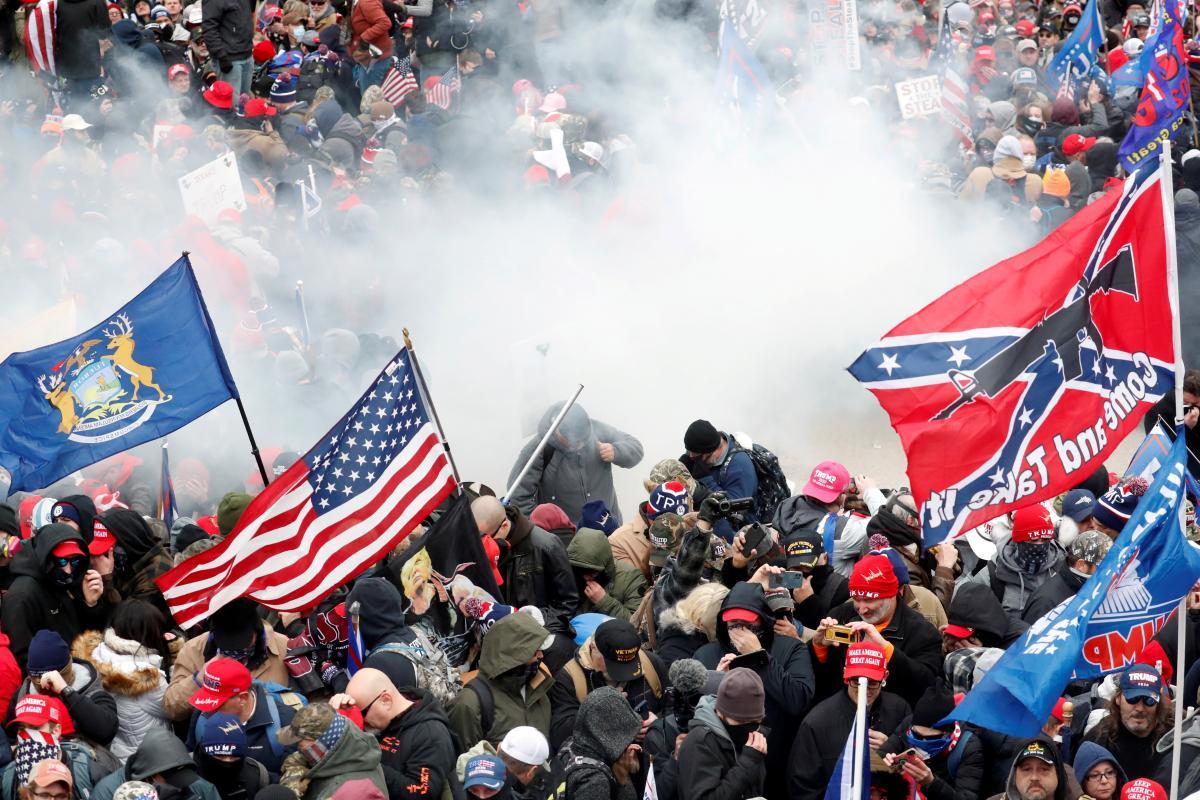Во время столкновений в Капитолии погибли пять человек / REUTERS