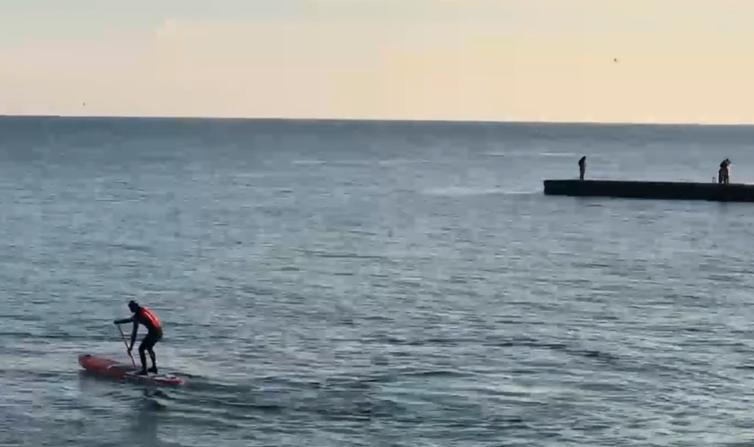 Одесити окупували пляжі в умовах зимового карантину / скріншот з відео
