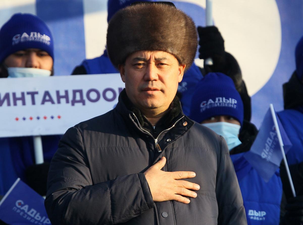 Садира Жапарова офіційно визнали переможцем президентських виборів у Киргизстані/ фото REUTERS