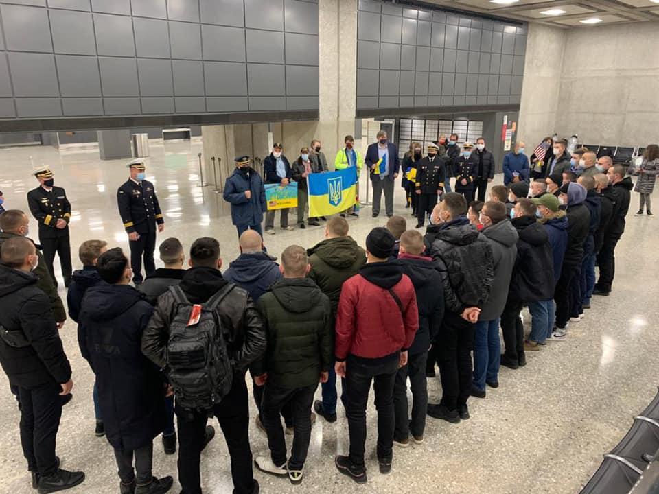 Украинские моряки прибыли на обучение в США / Facebook, Embassy of Ukraine in the USA / Посольство Украины в США