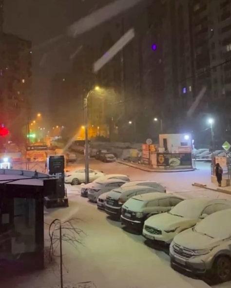 Одессу засыпало снегом