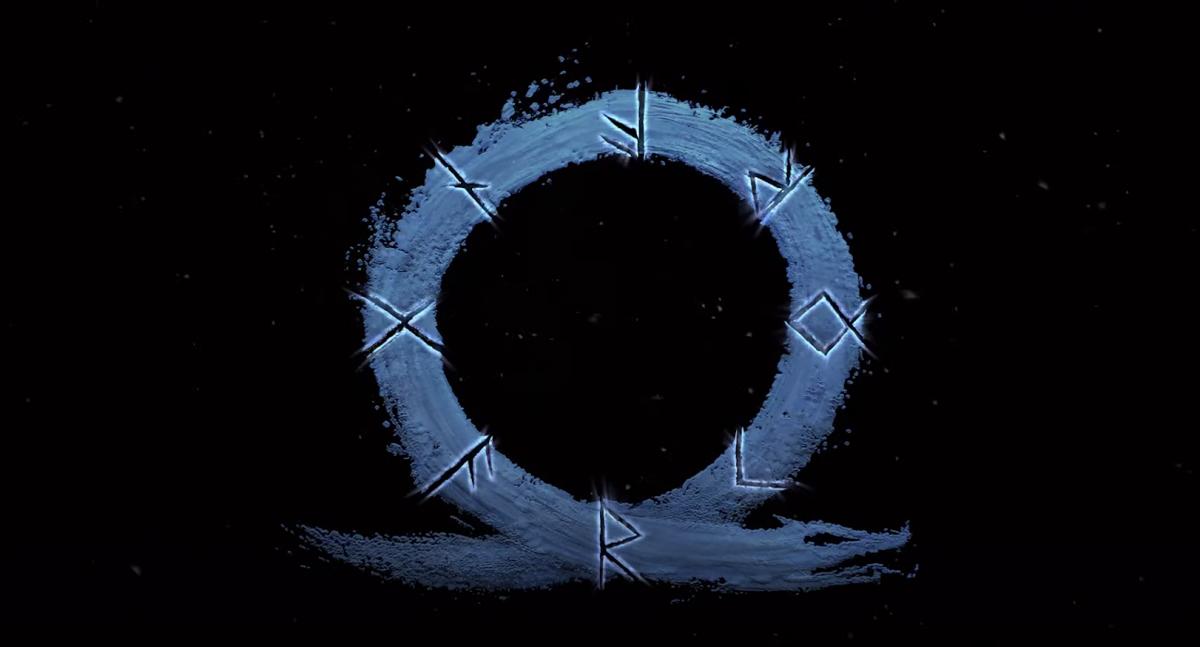 Других материалов, кроме этой руны из тизера, по новой God of War нет / скриншот из трейлера