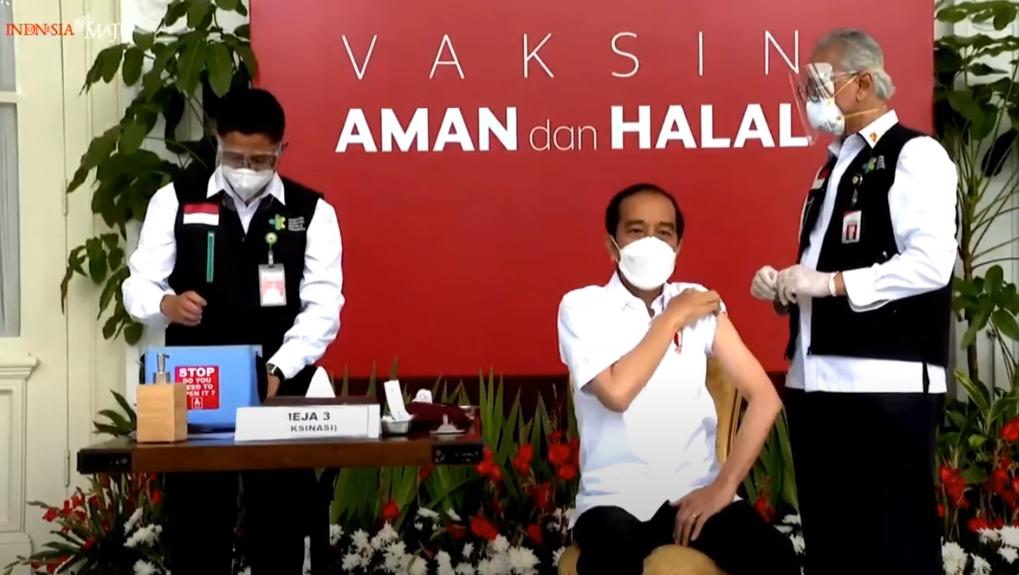 Президент Індонезії отримав щеплення від коронавірусу/ Скріншот з відео