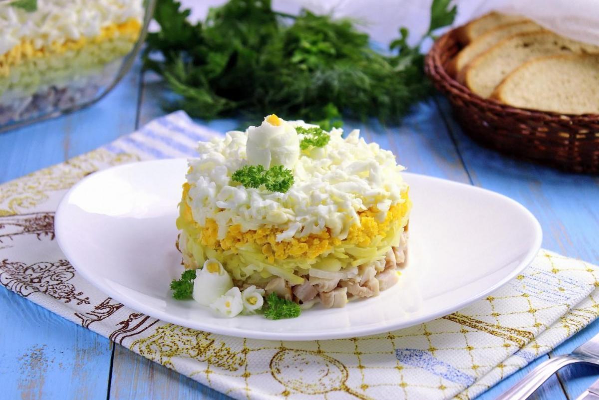 Вкусный салат Невеста - рецепт / фото 1000.menu