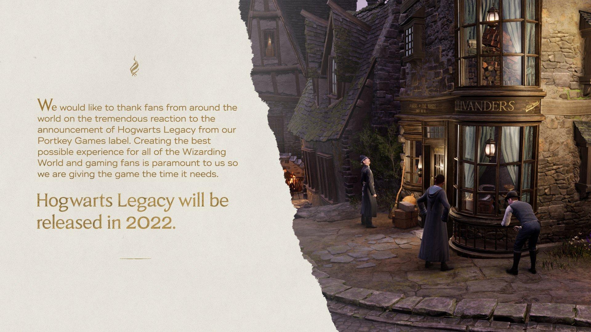 Розробники оголосили про перенесення релізу гри / фото twitter.com/HogwartsLegacy