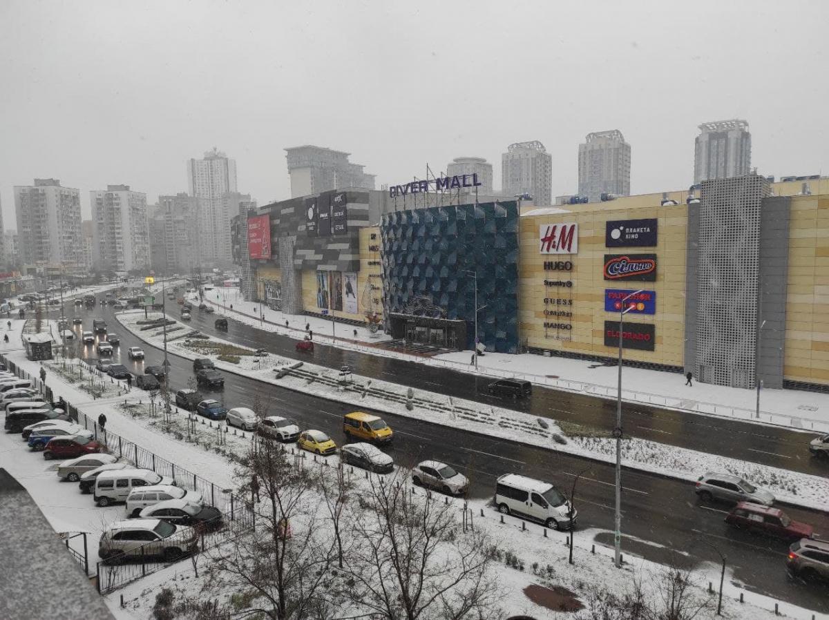 В столице начался снег / Фото: Апостроф