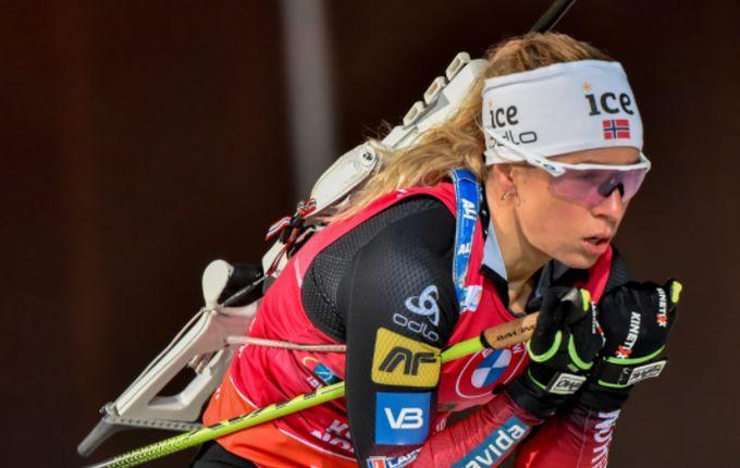Тирил Экхофф одержала победу / фото biathlon.com.ua