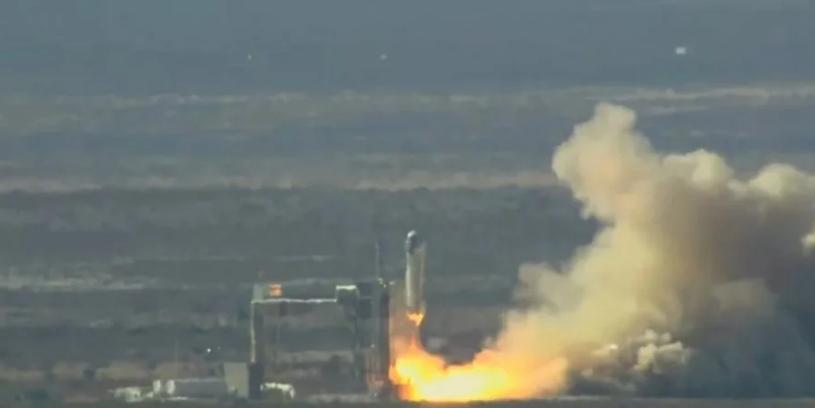 Blue Origin успішно випробувала ракету New Shepard/ фото Blue Origin