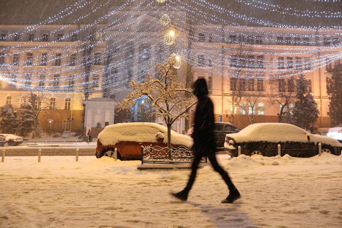 Надвечір у Києві очікують снігопад / фото УНІАН / Денис Прядко
