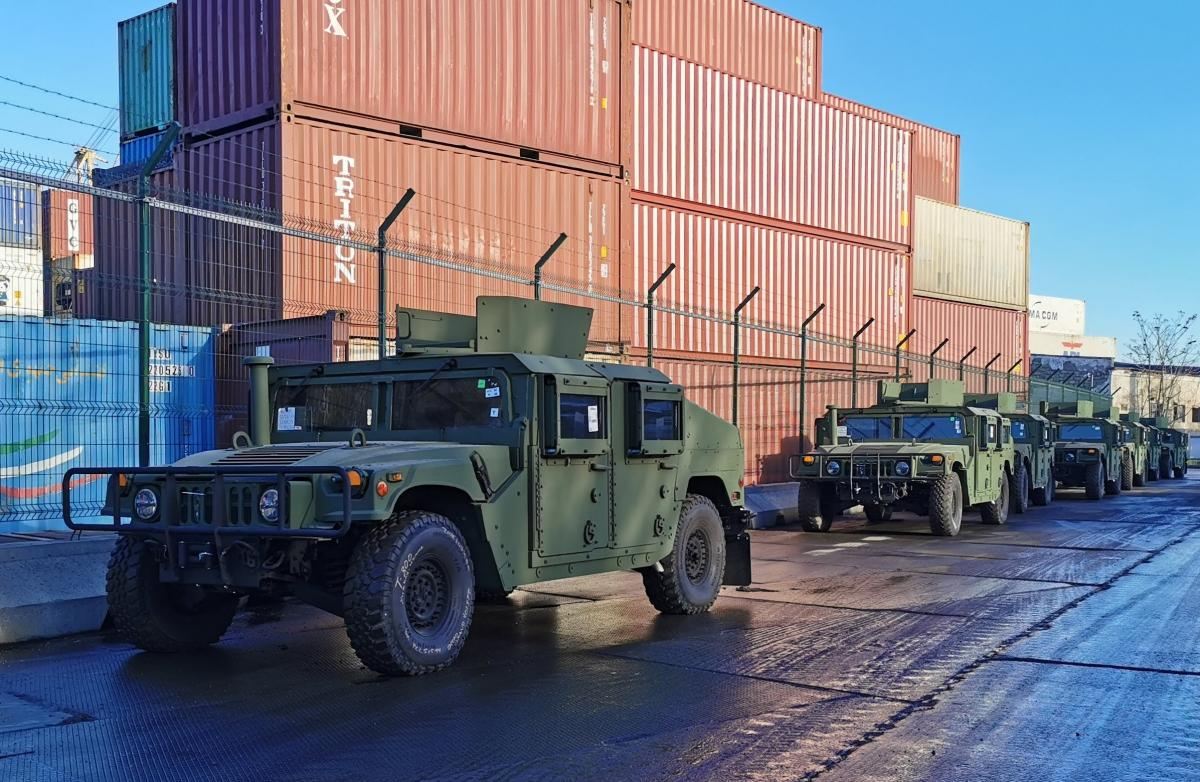 Военная техника из США / фото twitter.com/USEmbassyKyiv