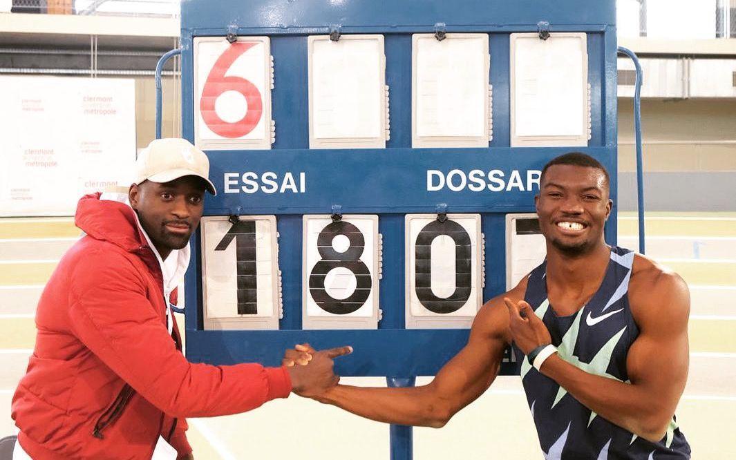 Юг Фабрис Занго (справа) и его тренер / фото twitter.com/TeddyTamgho