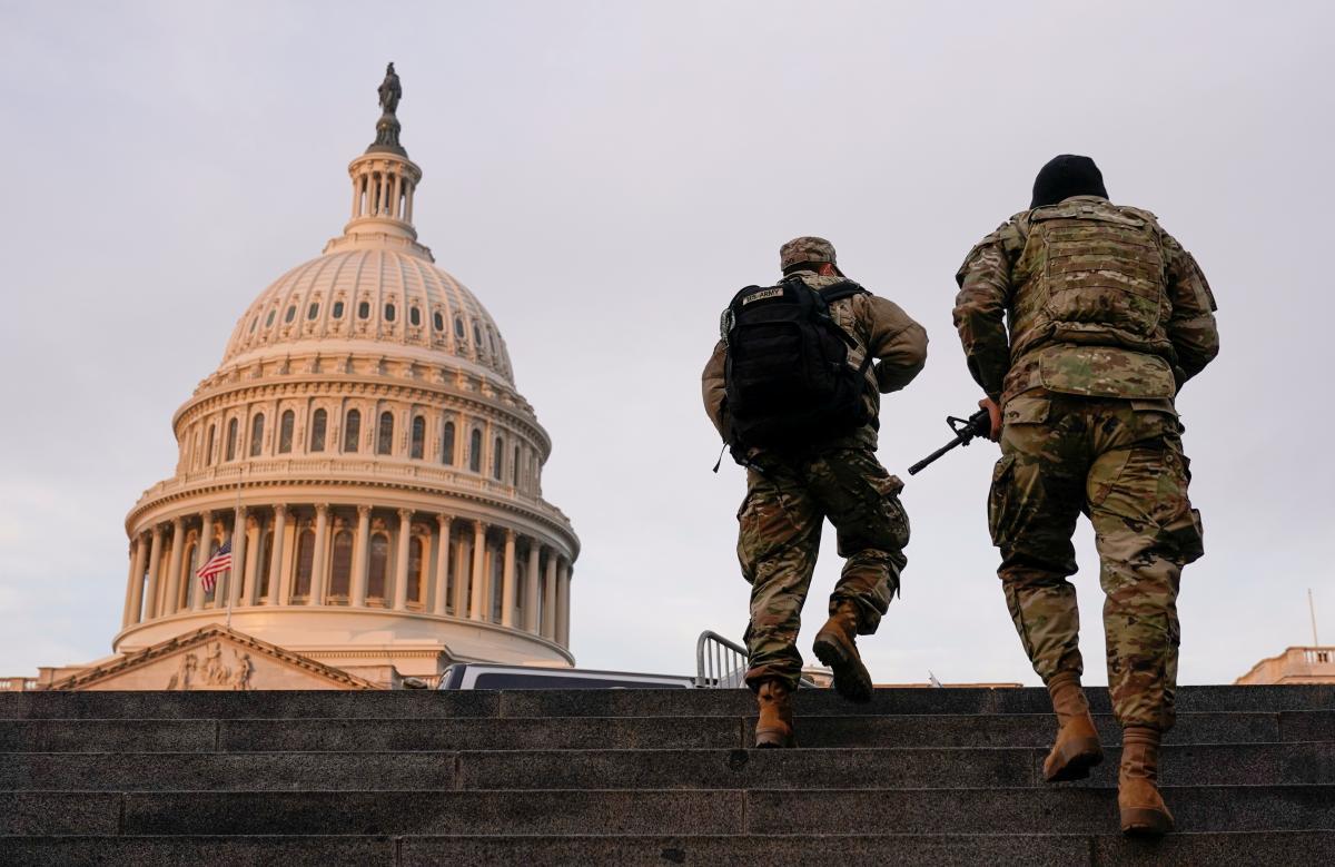 В Вашингтоні готуються до інавгурації Байдена / фото REUTERS
