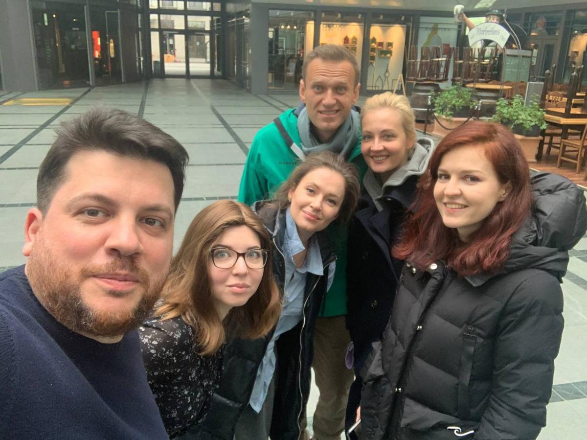 Навальний перед вильотом до Росії / Twitter