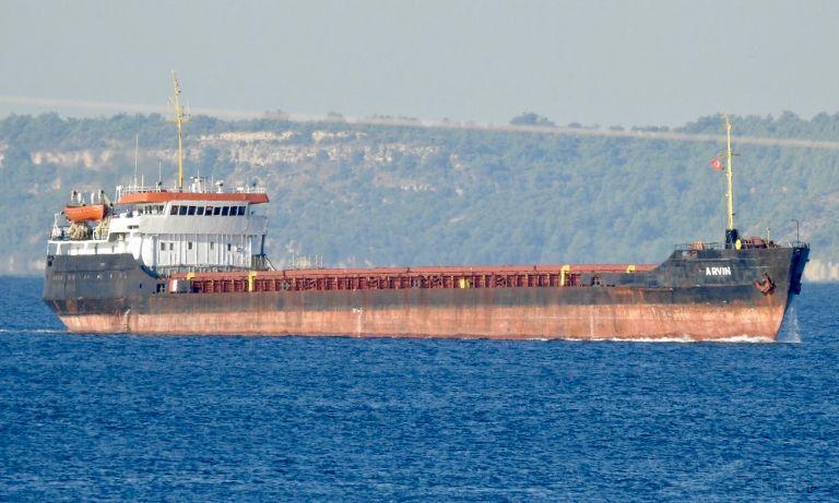 17 января в Черном море у берегов турецкой провинции Айдын затонул сухогруз Arvin \ фото Ersen Aktan, vesselfinder