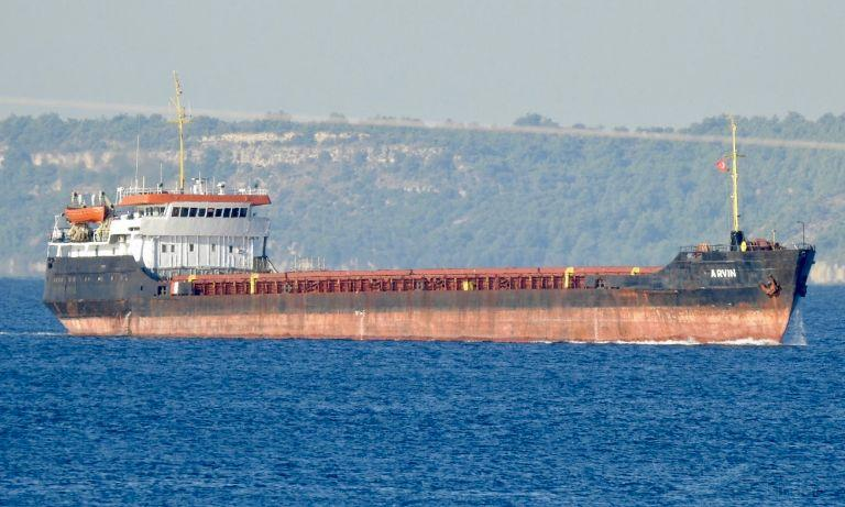 17 января в Черном море у берегов турецкой провинции Бартын затонул сухогруз Arvin \ фото Ersen Aktan, vesselfinder