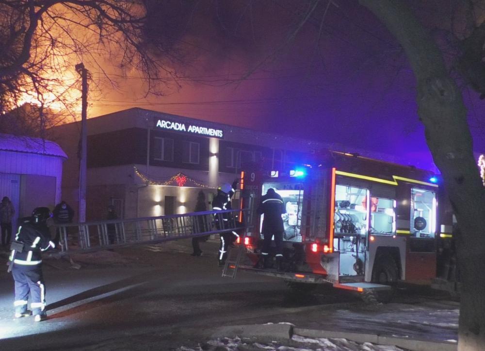 В Одесі загорівся готель / фото ДСНС