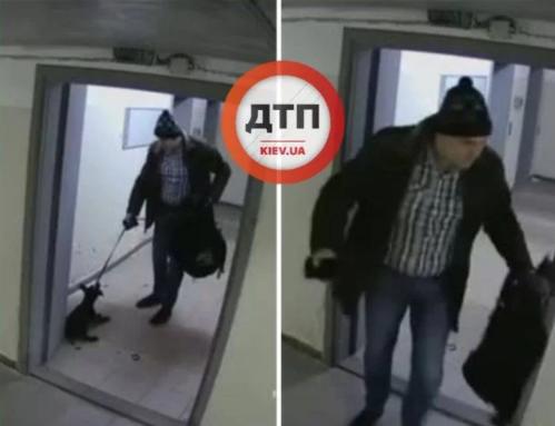 Чоловік знущався з тварини/ фото dtp.kiev.ua