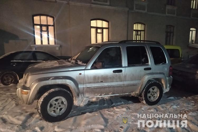 Водитель авто, которое везло имитированные санки, был пьян/фото Нацполиция