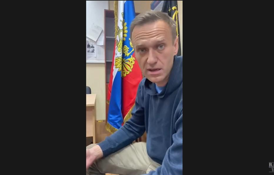 Как в Москве судят Навального / Скриншот с видео