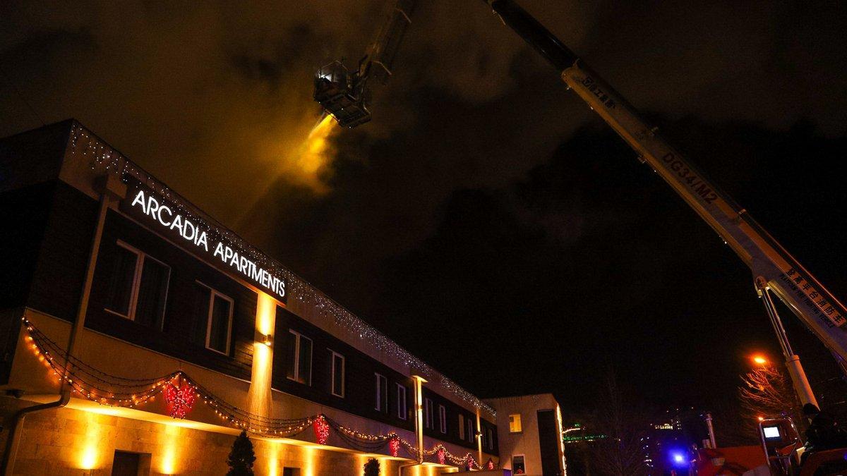 Пожар в одесском отеле / скриншот