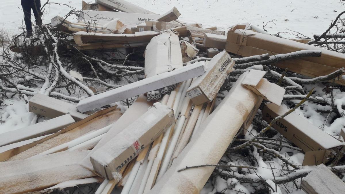 Утилизация ламп обойдется местной общине в 20 тысяч гривен / фото Госэкоинспекция в Черниговской области