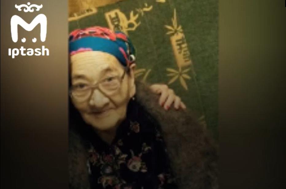 Бибинур Гизатуллина была труженицей тыла, валила лес во время войны/ Скриншот с видео