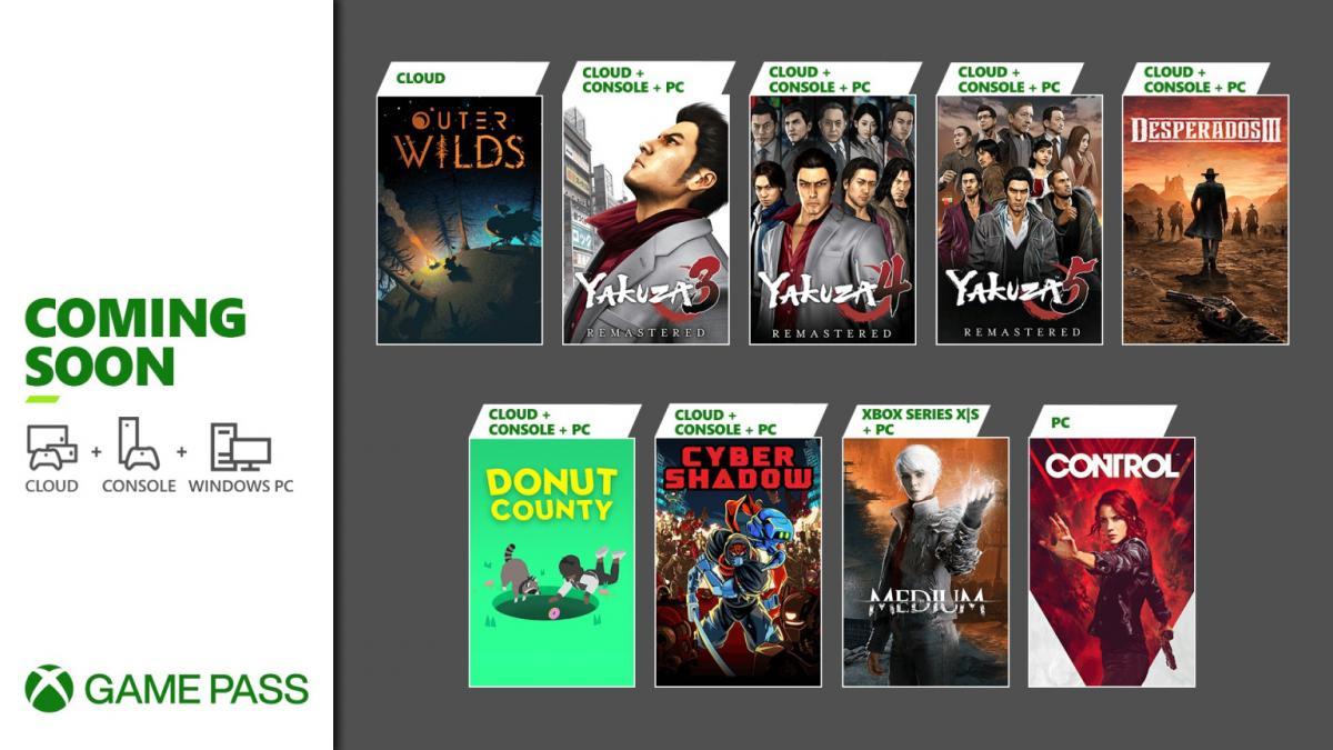 До кінця місяця ці ігри поповнять бібліотеку Game Pass / фото news.xbox.com