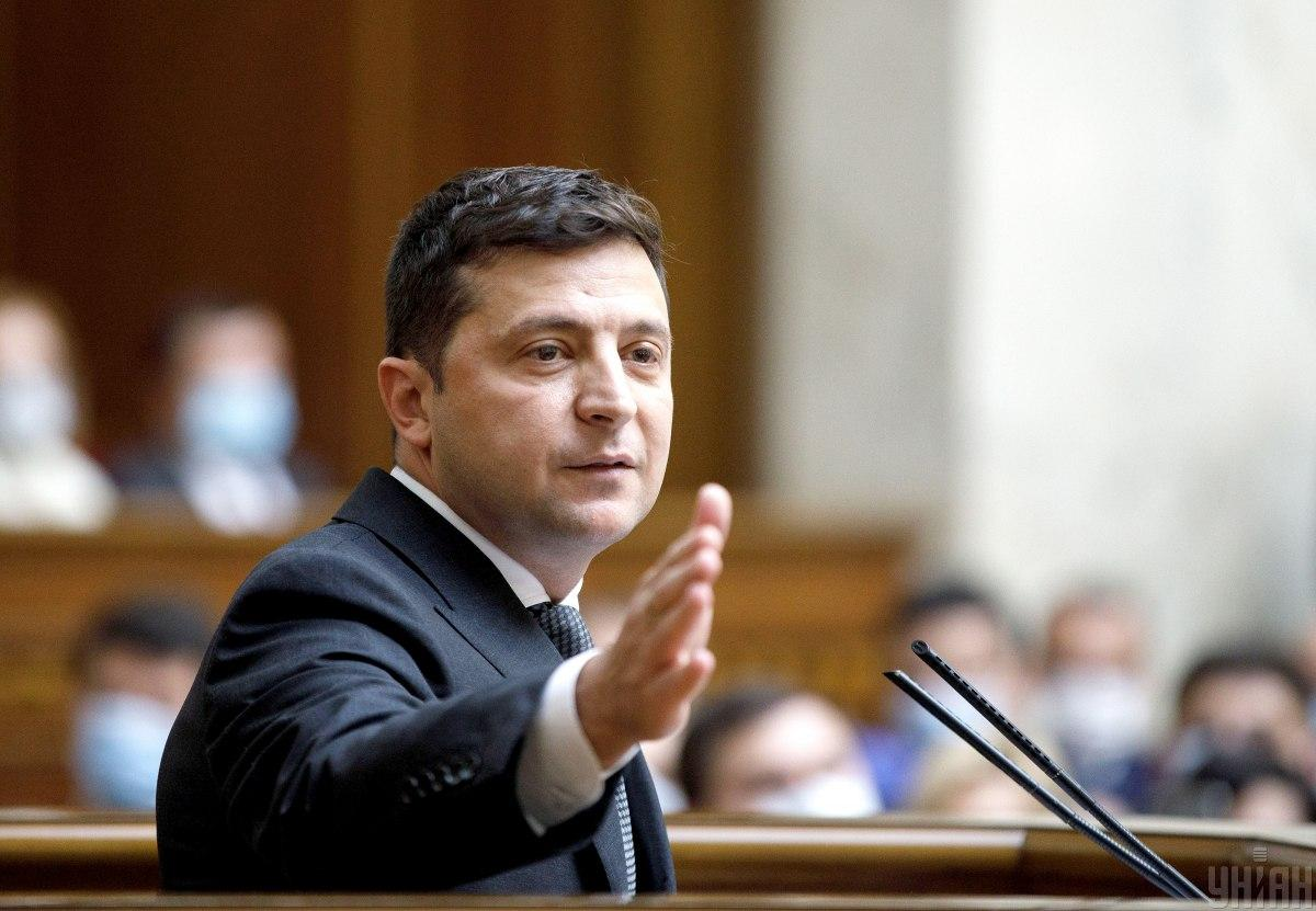 Zelensky comments on his move to block TV channels in Ukraine / Photo from UNIAN