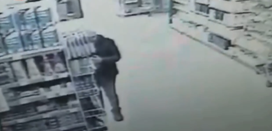 Суицид в супермаркете Борисполя попал на видео / скриншот видео