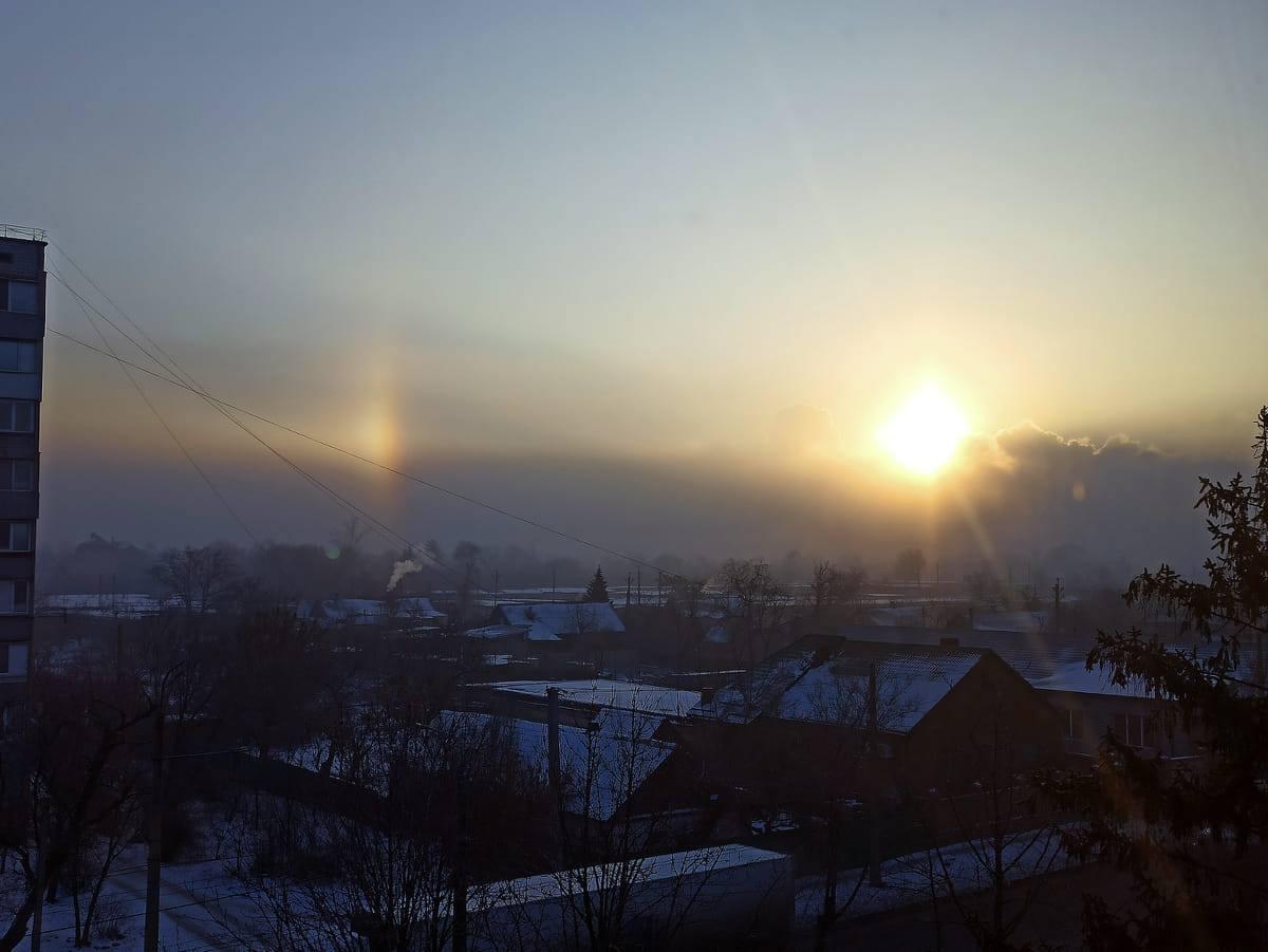 У небі над Кривим Рогом помітили гало / фото Nata Li, Facebook