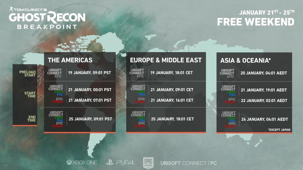 Даты начала и завершения бесплатного периода /фото Ubisoft