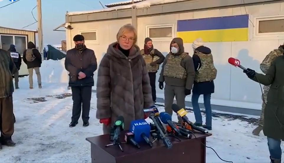 Денисова сообщила, что боевики отпустят 9 украинских пленных / скрин видео